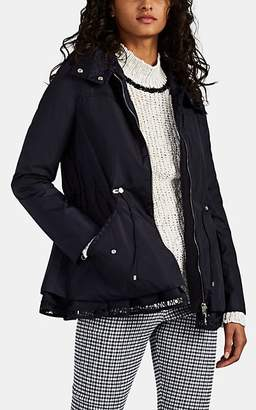 Moncler Women's Logo-Lace-Trimmed Tech-Taffeta Jacket - Navy