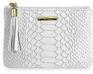 GiGi New York Women's Python-Embossed Leather Pouch