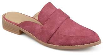 Brinley Co. Women's Faux Leather Slip-on Almond Toe Mules