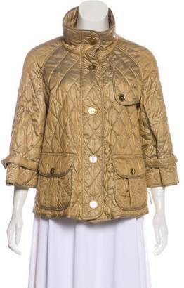 Burberry Quilted Mock Neck Jacket