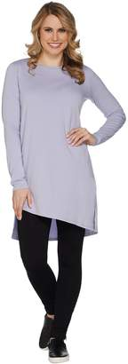 Anybody AnyBody Loungewear Cozy Knit Angled Hi-Lo Tee