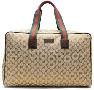 Banana Republic LUXE FINDS | Gucci Web Canvas Duffle Bag
