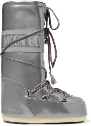 Moon Boot Metallic Vinyl Boots - Silver