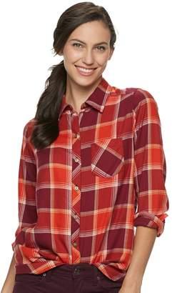 Sonoma Goods For Life Women's SONOMA Goods for Life Flannel Shirt