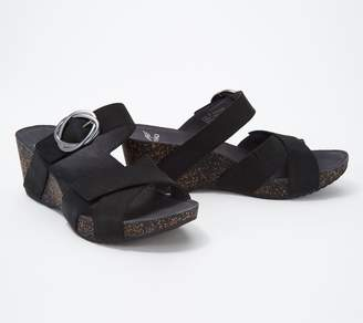 Dansko Nubuck Wedge_Slides with Buckle - Susie