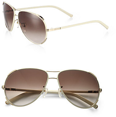 Chloé Oversized Aviator Sunglasses