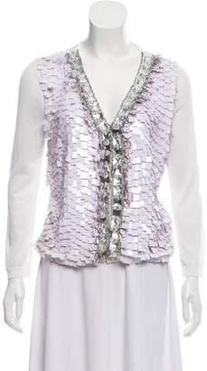 Blumarine Embellished Button-Up Cardigan