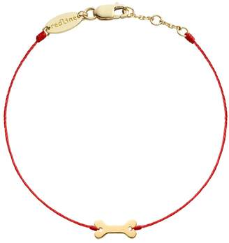 Redline Bone Red Bracelet - Yellow Gold