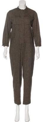 Vanessa Seward Wool Long Sleeve Jumpsuit