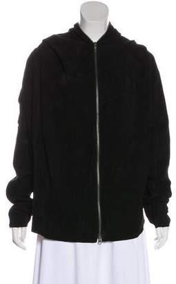 Elizabeth and James Suede Hooded Jacket