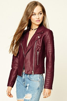 FOREVER 21+ Faux Leather Moto Jacket $32.90 thestylecure.com
