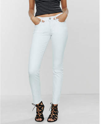 Express white mid rise stretch skinny jeans