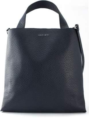 Orciani Navy Leather Jackie Shoulder Bag