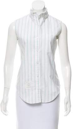 Thom Browne Sleeveless Striped Top