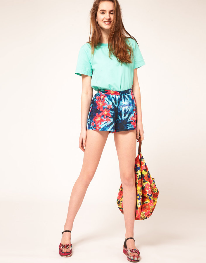 ASOS Culottes in Tropical Print