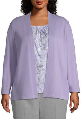 Alfred Dunner Smart Investments Layered Print Blouse - Plus