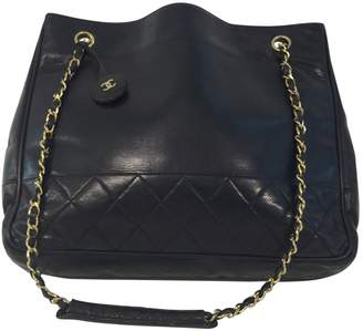 Chanel Black Leather Handbags