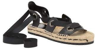 Donald J Pliner Esther Snake Embossed Leather Espadrille Sandal