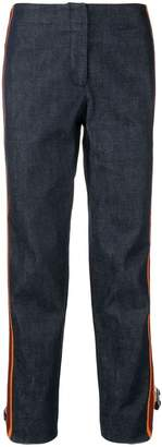 Calvin Klein side zipped cropped jeans