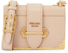 Prada Laser-Cut Cahier Shoulder Bag $2,660 thestylecure.com