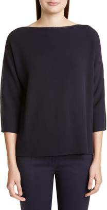 Lafayette 148 New York Glitter Trim Dolman Sweater