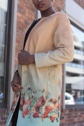 Couture Lyudviga Flower Ombre Coat