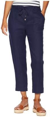 Lauren Ralph Lauren Petite Straight Linen Pants Women's Casual Pants
