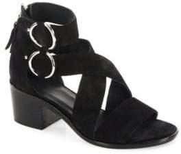 Rag & Bone Mari Suede Mid-Heel Sandals