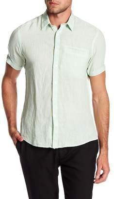 Borgo 28 Solid Linen Welt Pocket Modern Fit Shirt