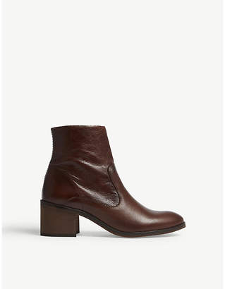 Office Albury leather block heel boots