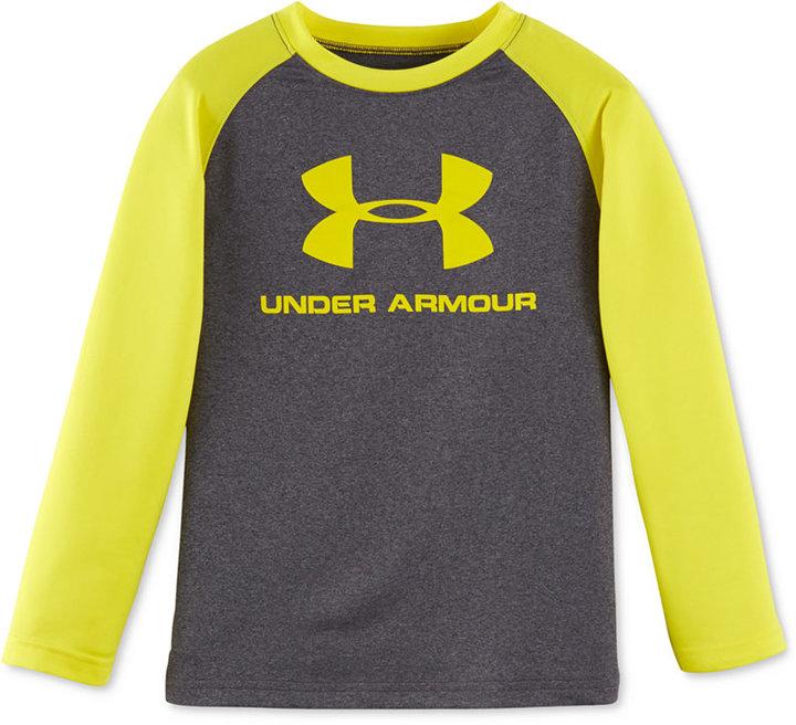 Under Armour Little Boys' Long-Sleeve Graphic-Print T-Shirt