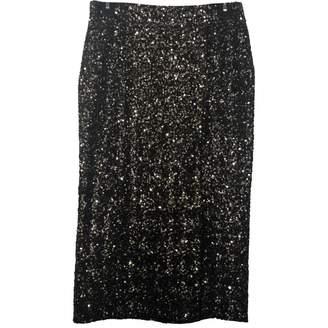 Dress the Population Metallic Glitter Skirt for Women