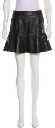 Barbara Bui Leather Mini Skirt