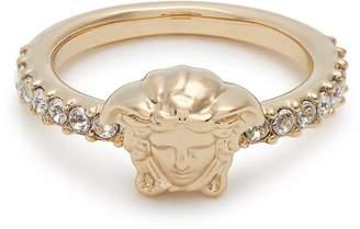 Versace Medusa crystal-embellished ring