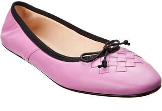 Bottega Veneta Pic Nic Leather Ballerina Flat