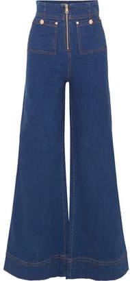 Alice McCall Bluesy High-rise Wide-leg Jeans - Dark denim