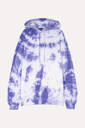 Ninety Percent Net Sustain Tie-dyed Organic Cotton-jersey Hoodie - Purple