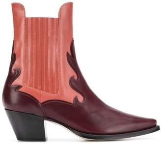 Alberta Ferretti two-tone Western boots