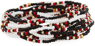Neiman Marcus On the Bead Beaded Bracelet, Black/White