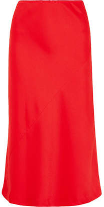 Maison Margiela Cady Midi Skirt - Red