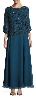 J Kara Embellished Long Dress