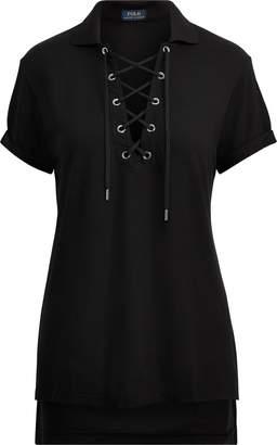 Ralph Lauren Lace-Up Polo Shirt