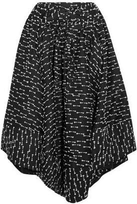 Rosie Assoulin Asymmetric Fil Coupé Tweed Midi Skirt