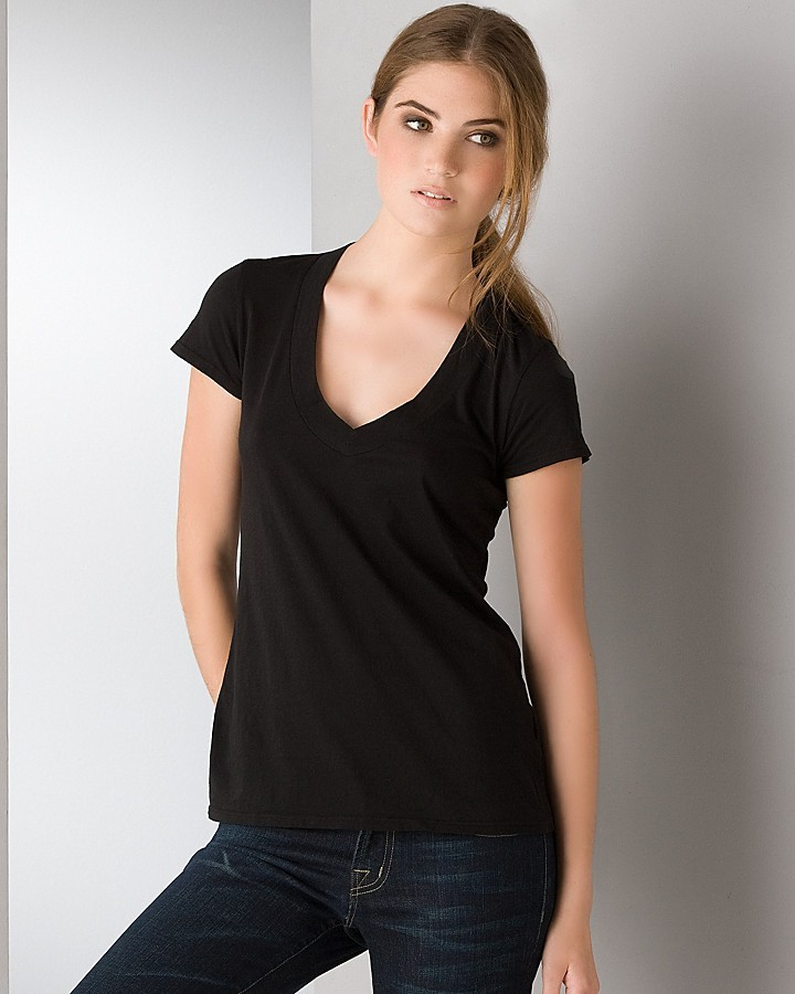 James Perse Relaxed Casual V-neck Tee Shirt