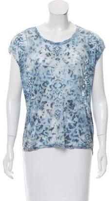 Zadig & Voltaire Short Sleeve Leopard Print Top
