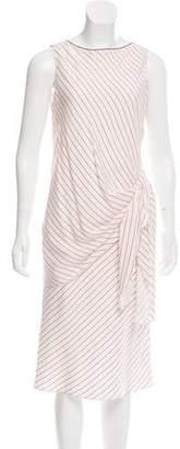 Brunello Cucinelli Striped Silk Dress w/ Tags