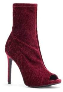 Jessica Simpson Rainer Velvet Peep Toe Booties