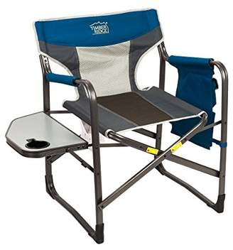 TimberRidge Director's Chair Oversize Portable Folding Support 300lbs Utility Lightweight for Camping Breathable Mesh Back with Side Storage Bag