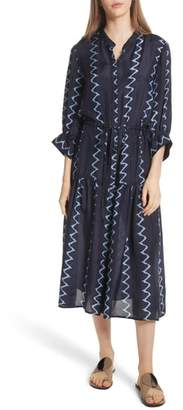 Apiece Apart Dunegrass Silk Shirtdress
