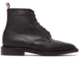 Thom Browne Wingtip grained-leather boots